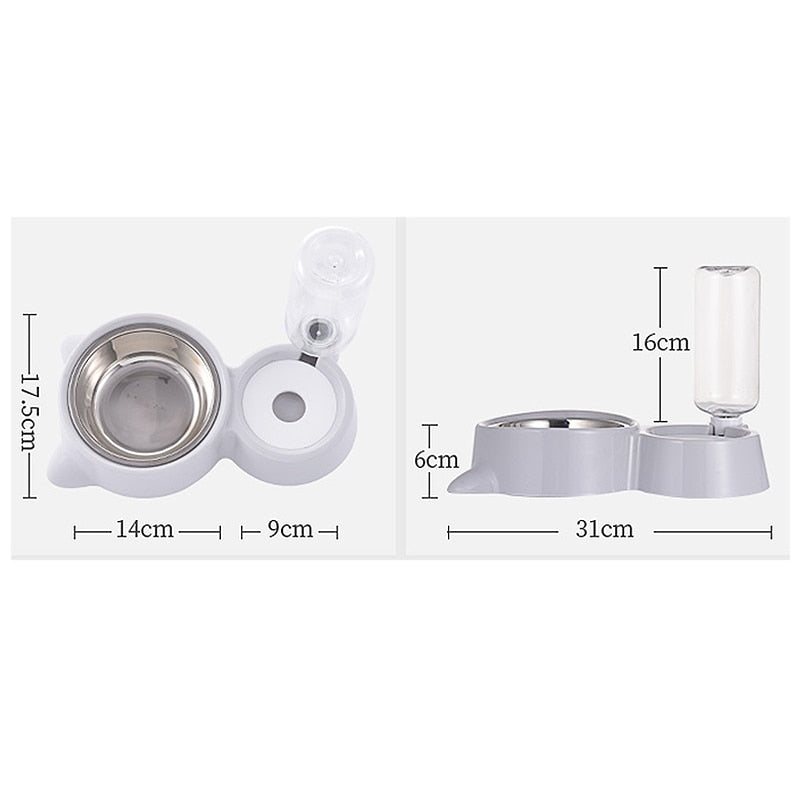 Automatic Pet Feeder Water Dispenser for Cat Dog