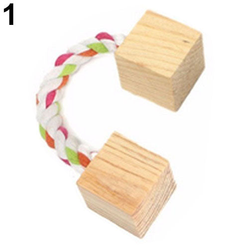 Wood Mini Exercise Toy for Rabbit and Chinchilla Hamster