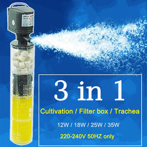 3 in 1 Aquarium Filter