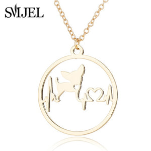 Pet Dog Pendant Necklaces for Women