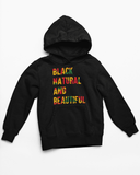 Black Natural and Beautiful Unisex Hooded Sweatshirt