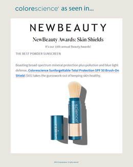 Voted THE BEST POWDER SUNSCREEN by NewBeauty