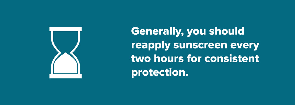 Reapply sunscreen every two hours