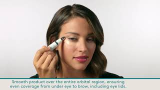 video how to apply Total Eye 3-in-1 Renewal Therapy SPF 35 || all