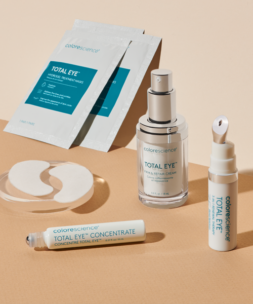 total eye 3 in 1, concentrate, cream and masks