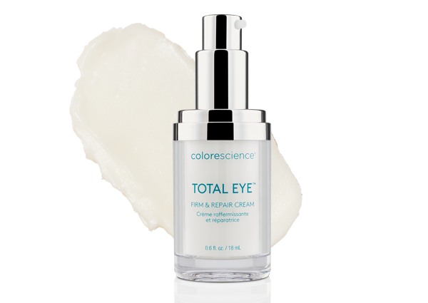total eye cream with swatch