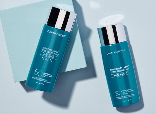 bottles of face shield classic and face shield matte
