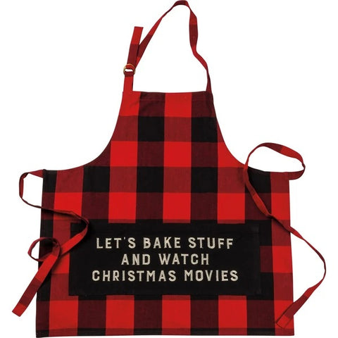 'Let's Bake Stuff And Watch Movies' Apron