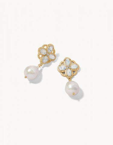 Pearl Drop Earrings by Spartina