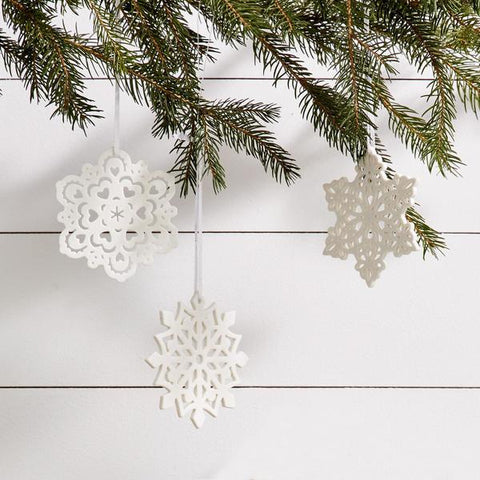 Snowflake Porcelain Ornament