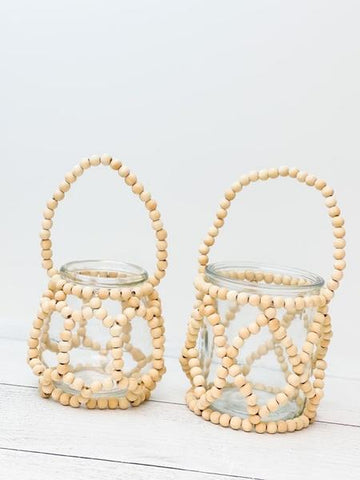Beat Jars with Wooden Embellishments