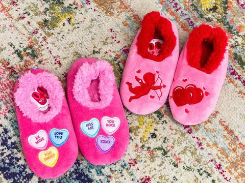 Snoozies Valentine's Day Slippers