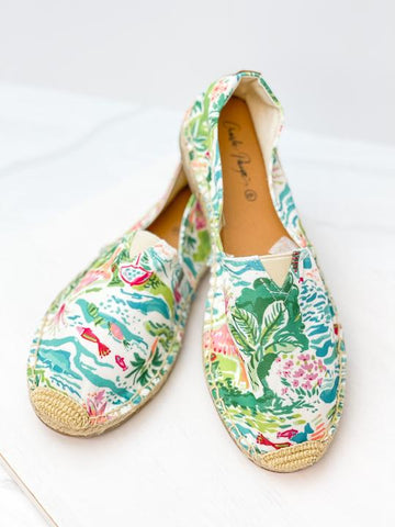 Charlie Paige Tropical Slip On Shoes