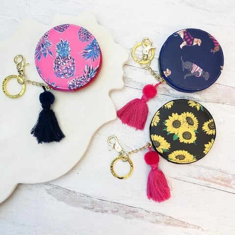 Simply Southern Round Coin Purses