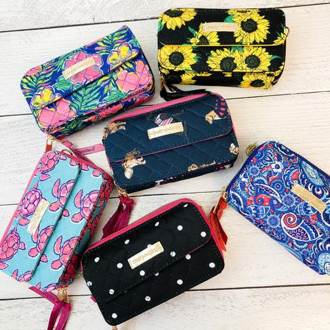 Quilted Crossbody Phone Wallet by Simply Southern