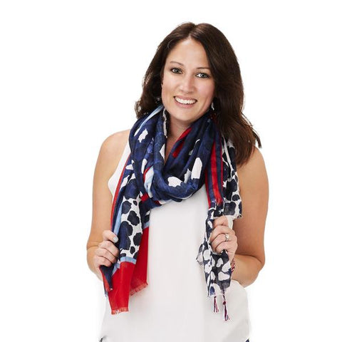 Red, White, and Blue Scarf