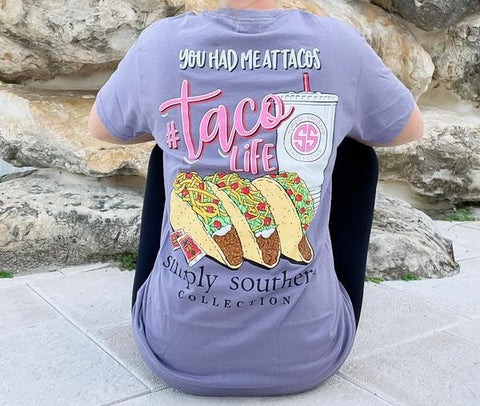 'You Had Me At Tacos' Simply Southern Short Sleeve Tee