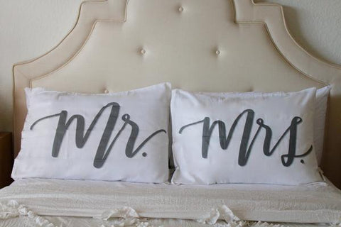 Mr Mrs Pillowcases