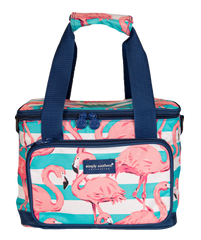 Flamingo Print Small Cooler by Simply Southern