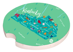 'Kentucky' Car Coaster by Simply Southern