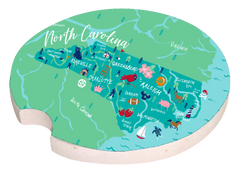 'North Carolina' Car Coaster by Simply Southern