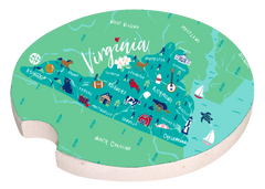 'Virginia' Car Coaster by Simply Southern