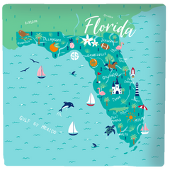'Florida' Square Stone Coaster by Simply Southern