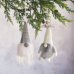 Neutral Gnome Ornaments by Mud Pie - Choice of Style
