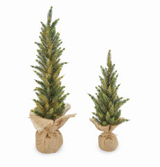 Gold Glitter Faux Pine Trees by Mud Pie - Choice of Size
