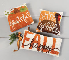 Thanksgiving Mini Hook Pillows by Mud Pie - Choice of Style