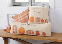 Pumpkin Family Pillows by Mud Pie - Choice of Size