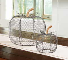 Nested Chicken Wire Pumpkins by Mud Pie
