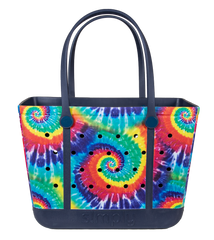 Printed Large Tote by Simply Southern - Tie Dye