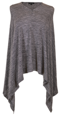 Knit Poncho by Simply Southern - Dark Gray
