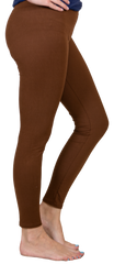 High-Waisted Leggings by Simply Southern - Brown