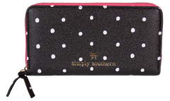 Polka Dot Small Zipper Wallet by Simply Southern