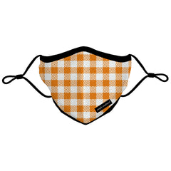 Fall Youth Face Covering by Simply Southern - Orange Gingham