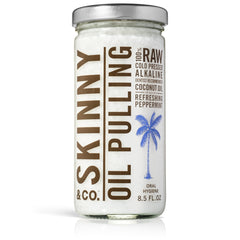 Peppermint Oil Pulling Coconut Oil by Skinny Co. - 8.5 oz