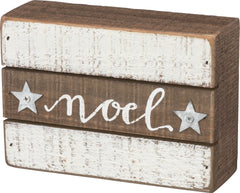 Noel Box Christmas Sign by Primitives by Kathy