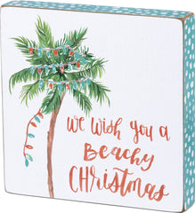 We Wish You A Beachy Christmas Wood Sign Home Decor