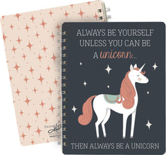 'Always be a Unicorn' Spiral Notebook by PBK