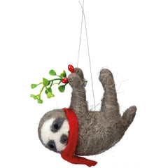 Hanging Sloth with Mistletoe by PBK