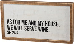 'We Will Serve Wine' Box Sign by PBK