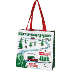 'Truck & Tree Merry Christmas' Market Tote by PBK