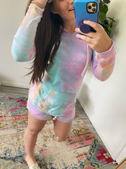 Angel Terry Nora Tie Dye Pullover - Rainbow Sherbet (Ships in 1-2 Weeks)