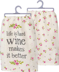 'Wine Makes it Better' Kitchen Towel by PBK