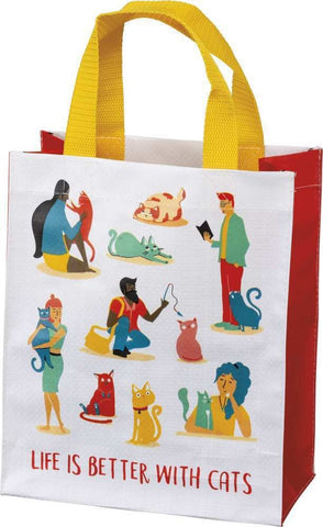 """Life Is Better With Cats"" Market Tote Bag"