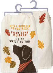 'Watching You Dog' Kitchen Towel by PBK