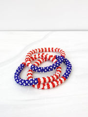 USA Flag Patriotic Bracelet