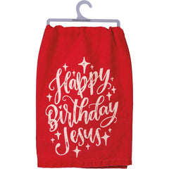 'Happy Birthday Jesus' Kitchen Towel by PBK